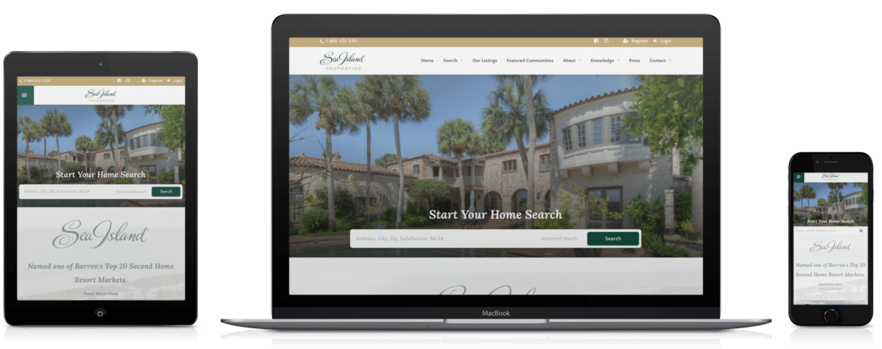 Sea Island responsive site design