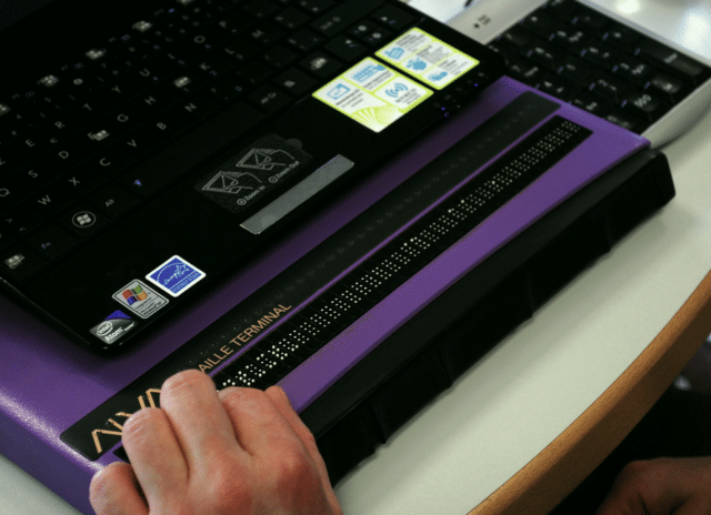 Refreshable braille displays are an assistive technology commonly used by visually impaired computer users.
