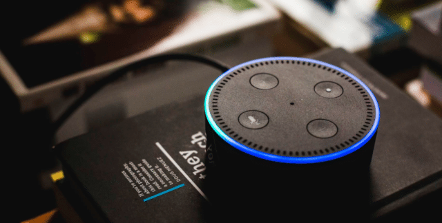 Alexa, a virtual home assistant designed to make voice searches.