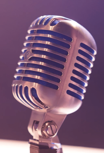 Microphone symbolizing voice search