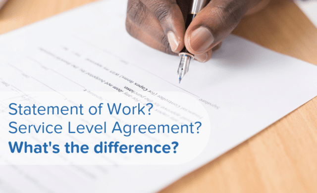 SOW? SLA? What's the difference between a Statement of Work and a Service Level Agreement?