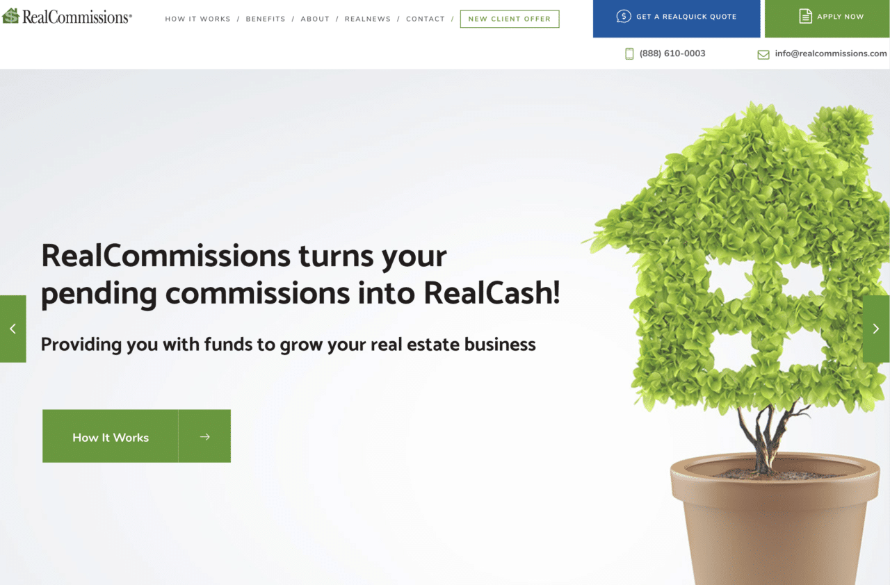 RealCommissions.com Redesign