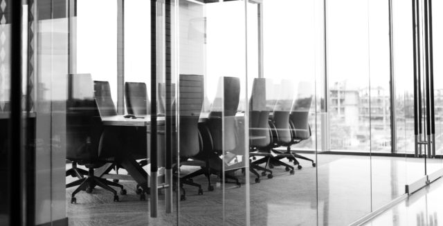 Conference room where business decisions are made.
